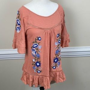 Women's Cupio Embroidered Peasant Top